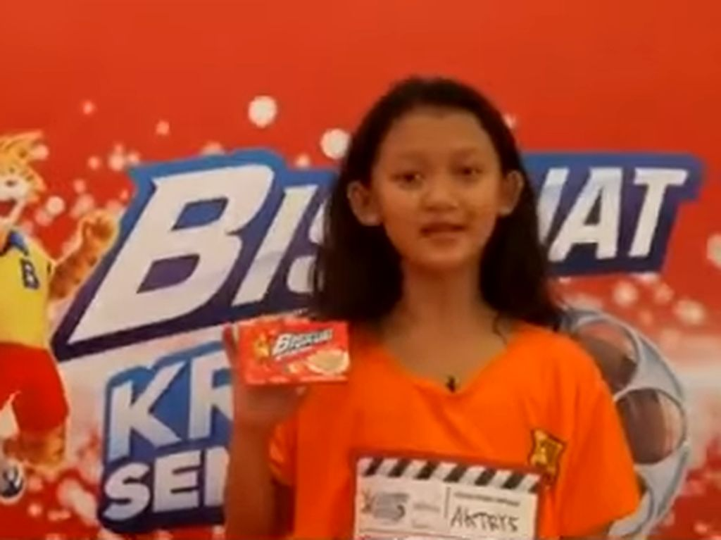 Salsabila saat ikut lomba audisi produk Biskuat. Foto: Dok. Instagram/audreysalsaaa
