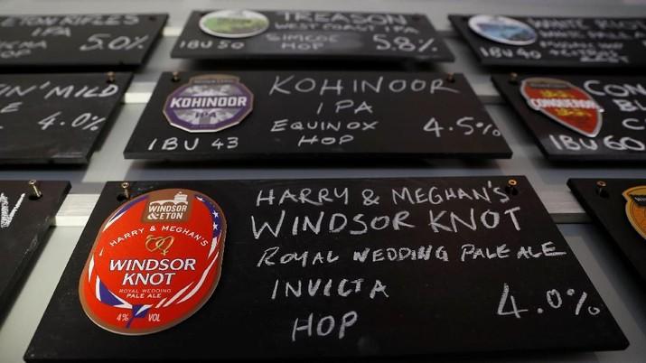 Pabrik bir Windsor & Eaton Brewery merilis bir edisi spesial di hari pernikahan Pangeran Harry dan Meghan Markle.