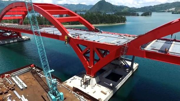 Megah! Jembatan Holtekamp di Atas Teluk Youtefa Papua