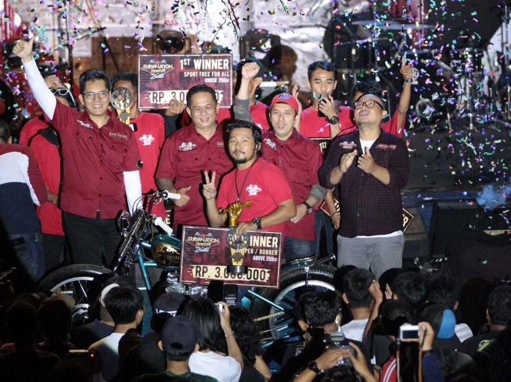 Motor ini berhak menjadi pemenang Best Region Palembang. Pool/Suryanation Motorland Battle 2018.