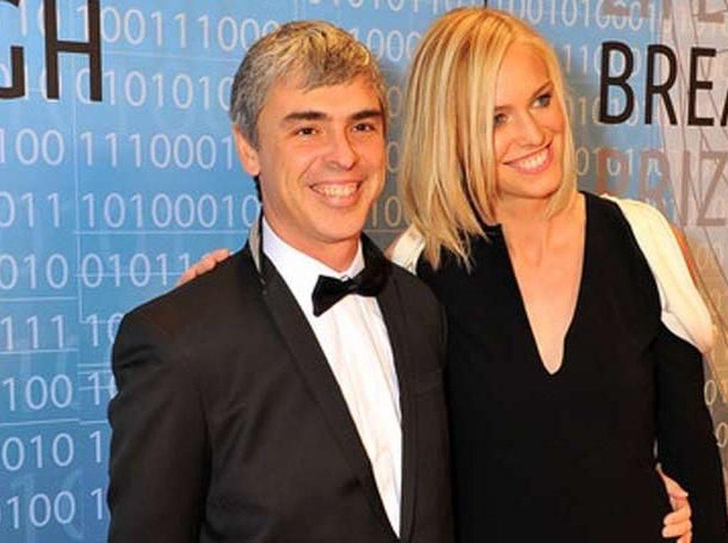 Larry Page menikah dengan Lucinda Page pada tahun 2007 dan tetap harmonis sampai sekarang. Mereka telah memiliki seorang anak. Foto: istimewa