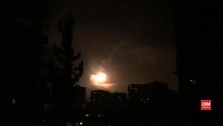 VIDEO: Suriah Tangkal Serangan Rudal, Diduga dari Israel