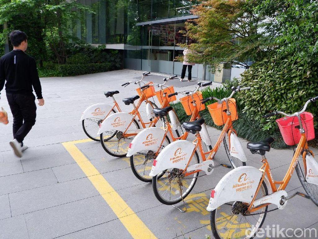 Ada banyak sepeda di sini. (Foto: detikINET/Adi Fida Rahman)