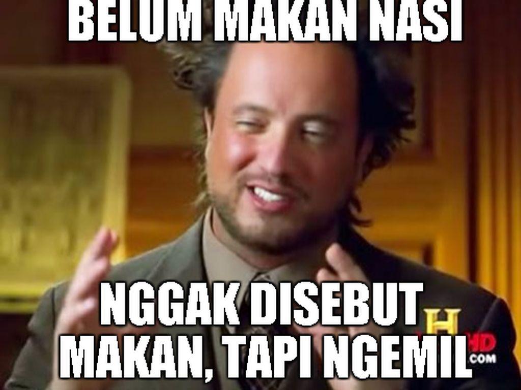 Orang Indonesia kalau belum makan nasi, nggak disebut makan. Tapi ngemil. Bener nggak sih? Foto: Istimewa
