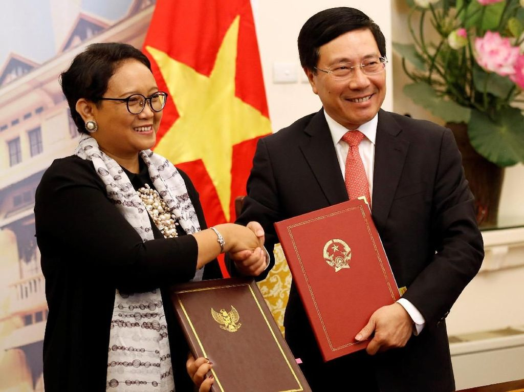 Pertemuan Retno dengan Wakil PM Vietnam untuk membahas sejumlah hal.