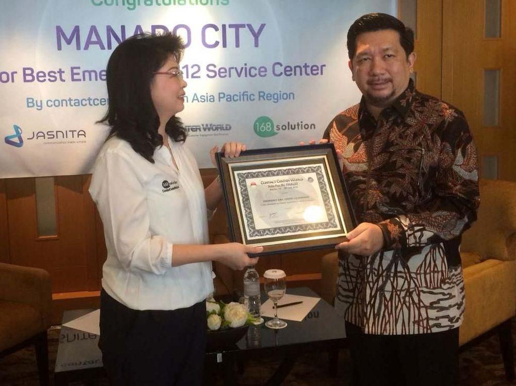 Pemkot Manado Terima Penghargaan Best Emergency 112