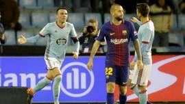 FOTO: 'Gol Tangan Tuhan' Iago Aspas Gagalkan Kemenangan Barca
