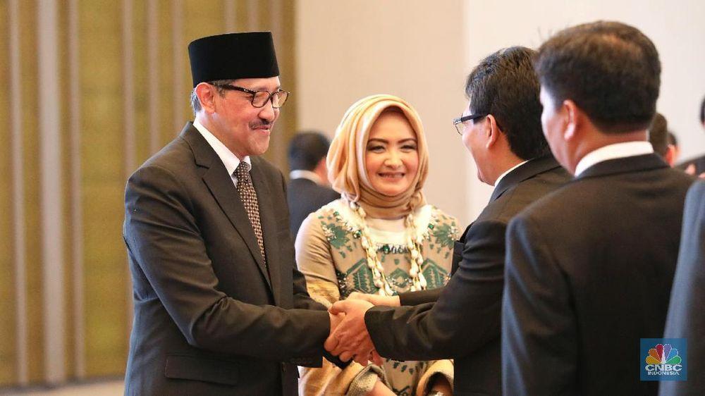 Mahkamah Agung (MA) pada hari ini, Rabu 18 April 2018 secara resmi melantik Dody Budi Waluyo sebagai Deputi Gubernur Bank Indonesia (BI) periode 2018-2023. (CNBC Indonesia/Andrean Kristianto)
