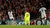 Romelu Lukaku mencetak gol kedua Manchester United ke gawang Bournemouth pada menit ke-70 berkat assist dari Paul Pogba. (Reuters/John Sibley)