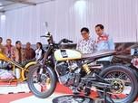 FOTO: Jokowi Buka Motor Show 2018 dan Tunggangi Motor Gibran