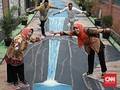 FOTO: Ceria di Kampung Mural 3D Gang Husada