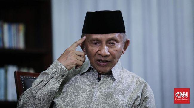 Amien Rais Tunjuk Foto Jokowi: Elektabilitasnya 'Going Down'