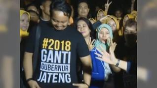 Pendukung Sudirman Said Pakai Kaus #2018GantiGubernurJateng