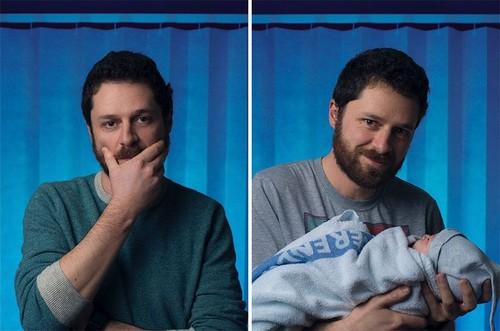 Foto Langka Perubahan Para Pria Sebelum dan Setelah Jadi Ayah
