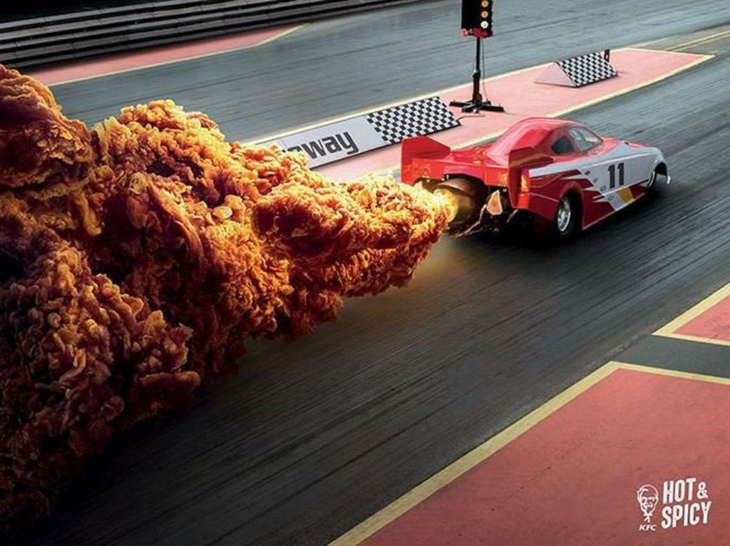 Ini merupakan iklan kreatif buatan Ogilvy & Mather untuk restoran cepat saji KFC. Foto: Twitter @bokoyai