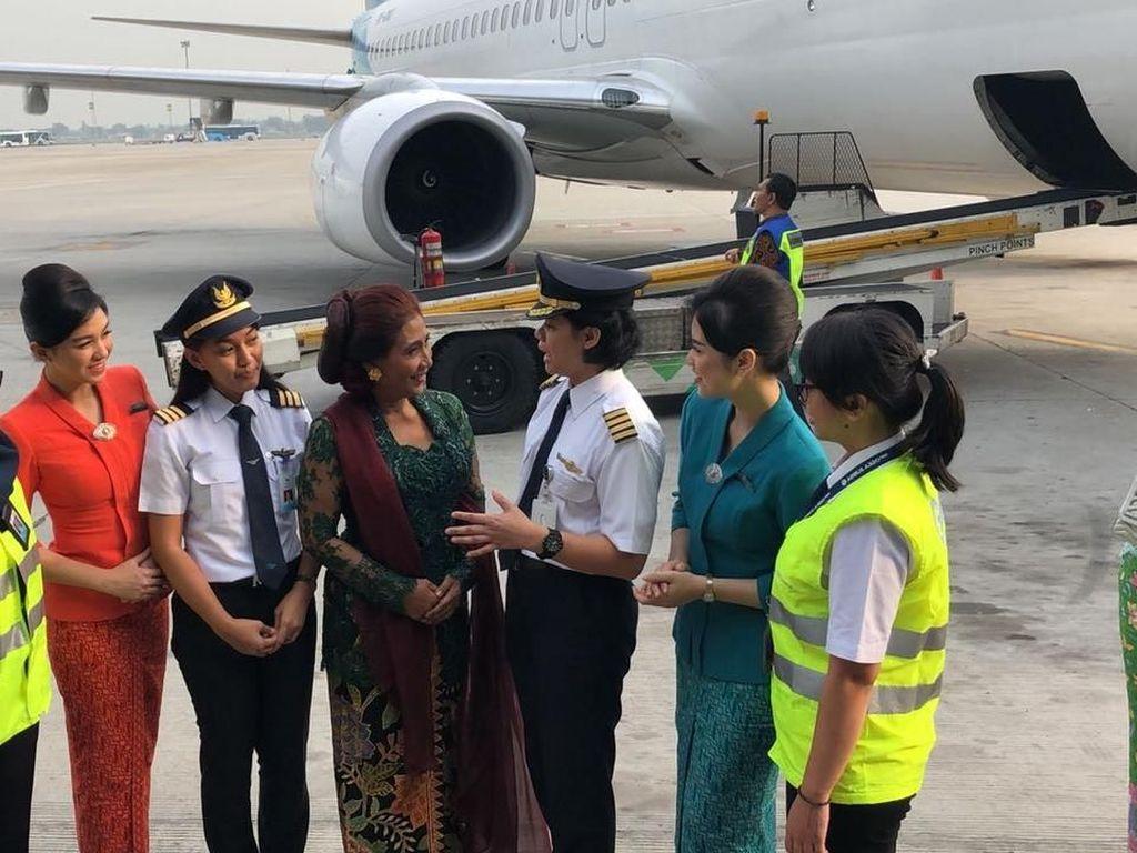 Kartini Flight kali ini melayani penerbangan Jakarta-Yogyakarta dengan nomor penerbangan GA 204 dan GA 209 Yogyakarta-Jakarta. Pool/Kementerian Kelautan dan Perikanan.