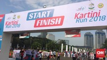 Iriana Jokowi dan Mufidah Kalla Buka Kartini Run 2018