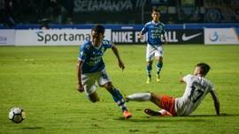 Gomez Puas Persib Cetak Tiga Gol Lawan Borneo FC