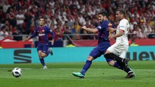Barcelona Unggul 3-0 atas Sevilla di Babak Pertama