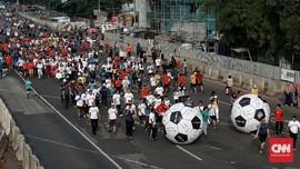 Tiga Kota Gelar Aksi Menggiring Bola Piala Dunia 2018