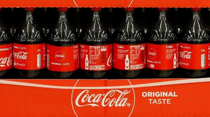 FILE PHOTO: Bottles of Coca-Cola are seen at a Carrefour Hypermarket store in Montreuil, near Paris, France, February 5, 2018.  REUTERS/Regis Duvignau