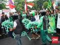 Tiga Tuntutan Demo Ojek Online di Depan Gedung DPR/MPR