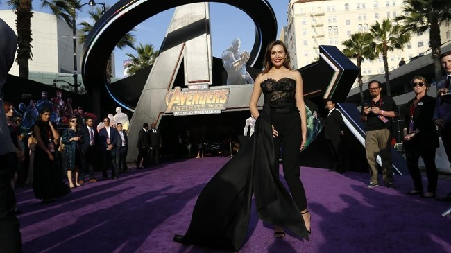 Avengers: Infinity War mengumpulkan pahlawan super Marvel dari 18 film sebelumnya di Marvel Cinematic Universe. Ada lebih dari 22 pahlawan super di dalam film itu. (REUTERS/Mario Anzuoni)
