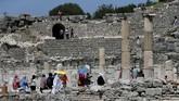 Dibangun padaabad ke-10 Sebelum Masehi, Ephesusdibangun oleh koloni orang Attic dan Yunani Ionia di bekas ibu kota kerajaan Arzawan. (Anadolu Agency/Mahmut Serdar Alakuş)