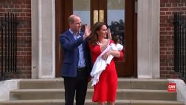 VIDEO: Semringah Pangeran William-Kate Gendong Anak Ketiga