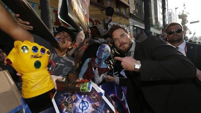 Para selebriti yang membintanginya pun berdatangan ke penayangan perdana film itu di Los Angeles, Senin (23/4) waktu setempat. (REUTERS/Mario Anzuoni)