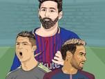 Penghasilan Messi Kalahkan Ronaldo, Dibayar Rp 424 Juta/Menit