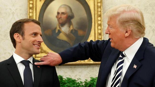 Rahasia, Macron Sebut Pembicaraan dengan Trump Seperti Sosis