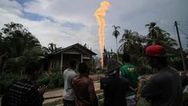 FOTO: Kebakaran Sumur Minyak Aceh Timur