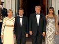 VIDEO: Trump-Melania Sambut Hangat Macron di Gedung Putih