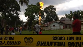Kobaran Api Ledakan Sumur Minyak di Aceh Timur Padam