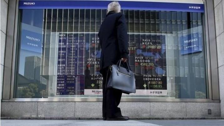 Tertekan Sejak Pembukaan, Bursa Tokyo Ditutup Koreksi 0,75%