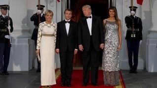 Brigitte Macron: Melania Trump Bahkan 'Tak Bisa Buka Jendela'