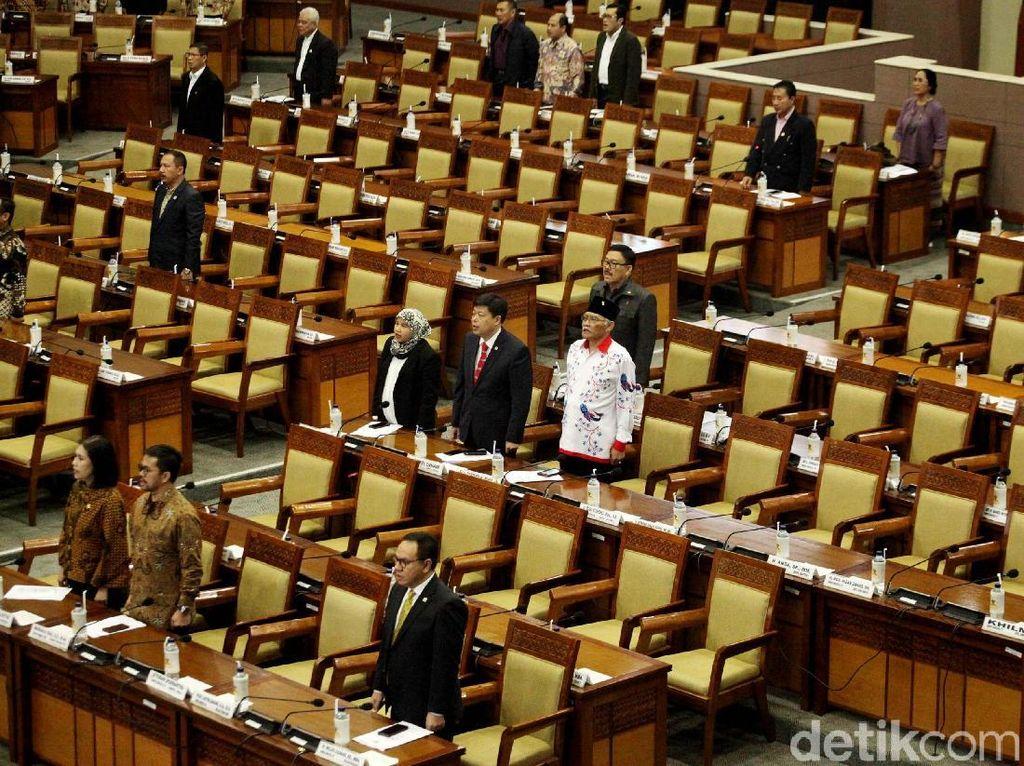 283 Wakil Rakyat Absen di Rapat Paripurna Penutupan DPR