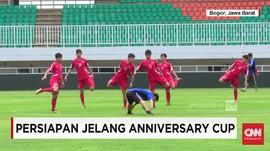 Timnas Indonesia U-23 vs Bahrain di Anniversary Cup