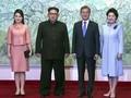 Usai Makan Malam, Kim dan Moon Tinggalkan DMZ