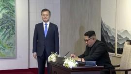 Guratan Harapan Kim Jong-un di Buku Tamu Rumah Perdamaian