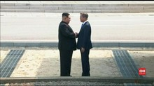 VIDEO: Detik-detik Pertemuan Kim Jong-Un dan Moon Jae-in