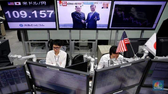 Terdongkrak Data Ekonomi, Bursa Saham Utama Asia Menguat