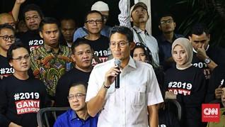Sandiaga Klaim Dorong Prabowo Galang Dana untuk Pemilu 2019