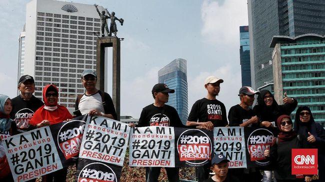 Survei: Mayoritas Responden Tolak Aksi #2019GantiPresiden