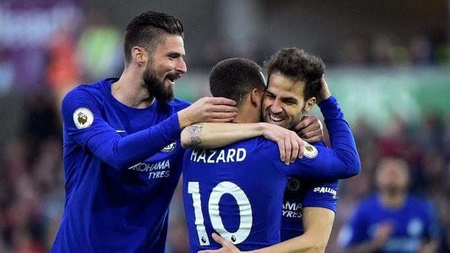 Gol Tunggal Fabregas Menangkan Chelsea atas Swansea City