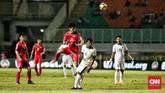 Hasil imbang tanpa gol melawan Korea Utara membuat Timnas Indonesia berada di dasar klasemen PSSI Anniversary Cup 2018 dengan koleksi satu poin. (CNN Indonesia/Andry Novelino)
