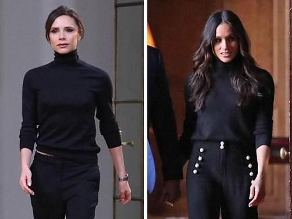 7 Bukti Fashion Meghan Markle dan Victoria Beckham Mirip, Siapa Favoritmu?