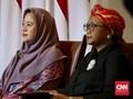 Sambut Wapres Iran, Puan dan Menlu RI Kompak Kenakan Hijab