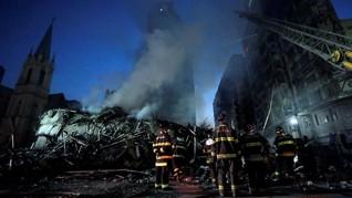 FOTO: Dampak Kebakaran Dahsyat Gedung 22 Lantai di Brasil